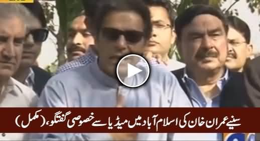 Imran Khan's Complete Media Talk in Islamabad - 27th October 2016
