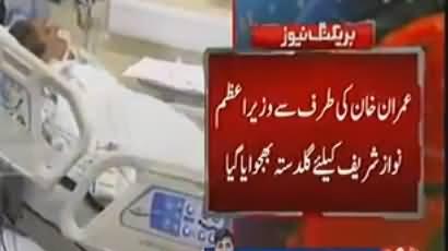 Imran Khan Sends Bouquet to Nawaz Sharif in Hospital