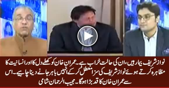 Imran Khan Should Terminate Nawaz Sharif's Conviction & Let Him Go Abroad - Mujeeb Shami