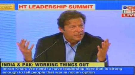 Imran Khan Speaking At Hindustan Leadership Summit in India & Answering the Questions - Full Video