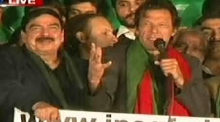 Imran Khan Speech In PTI Azadi March, Islamabad - 6th November 2014