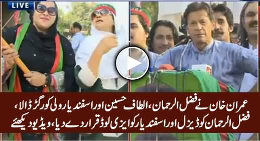 Imran Khan Takes Class of Fazal ur Rehman, Altaf Hussain, Asfandyar & Geo Tv