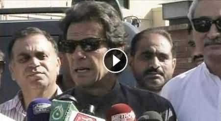 Imran Khan Talking to Media After Visiting Hamid Mir - 15th May 2014