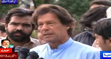 Imran Khan Talking to Media in Islamabad About Rigging - 25th May 2015