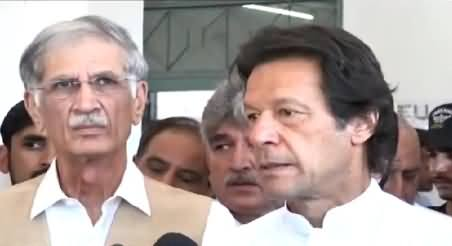 Imran Khan Talking To Media in Peshawar – 26th May 2015