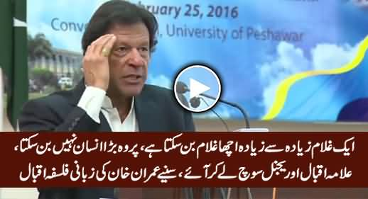 Imran Khan Telling The Importance of Freedom In The Light of Iqbal's Ideology