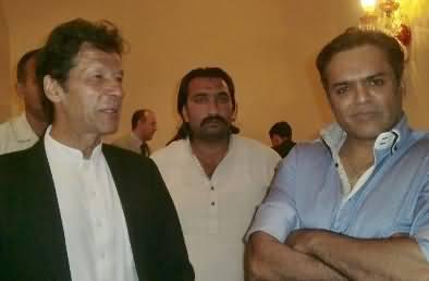 Imran Khan At Serena hotel Islamabad, Seminar on Drones, Kashif Abbasi Also there