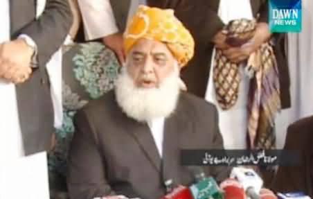Imran Khan Wants Bloodshed in Islamabad - Maulana Fazal ur Rehman Talking to Media