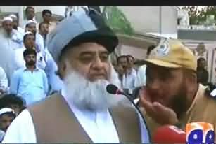 Imran Khan Zindabad Slogans in the Jalsa of Mualana Fazal ur Rehman