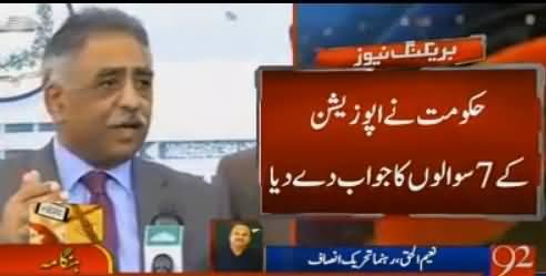 In Ke Hosh Urey Huwey Hain - Naeem-ul-Haq Comments on PMLN Leaders Press Conference
