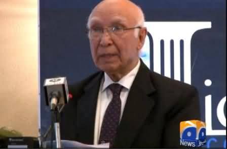 India's Attitude Shows It Has Desire of War with Pakistan - Sartaj Aziz