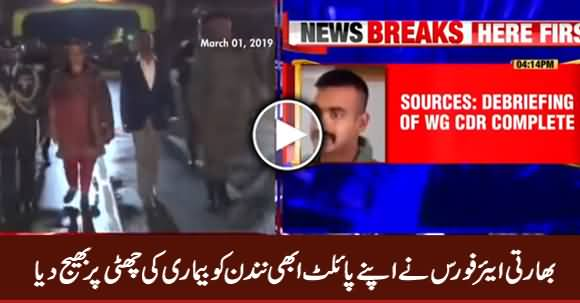 Indian Air Force Sent Its Pilot Abhinandan on Sick Leave
