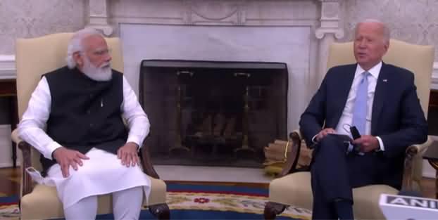Indian PM Narendra Modi's Bilateral Meeting With US President Joe Biden