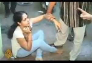 Indian Wife Beating Her Husband and His Girlfriend Badly with the Help of Her Relatives