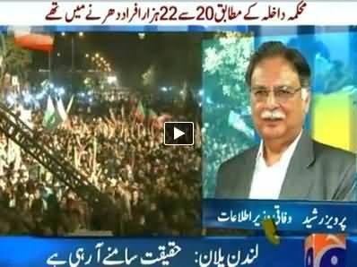 Informaion Minister Pervez Rasheed Views on PTI's Jalsa in Karachi - 21st September 2014
