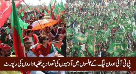 Intelligence Agencies Report on The Number of People in PTI & PMLN Jalsas