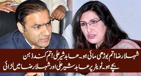 Intense Fight Between Abid Sher Ali And Shehla Raza on Twitter