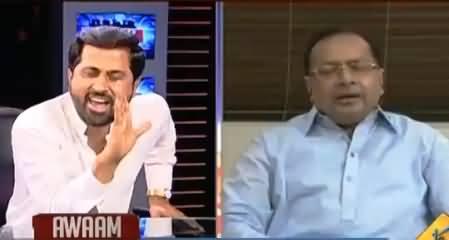 Intense Fight Between Fayaz-ul-Hassan Chohan And Salman Mujahid in Live Show
