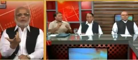 Intense Fight Between PTI Ejaz Chaudhry & MQM's Sajid Ahmed on Abusing Imran Khan