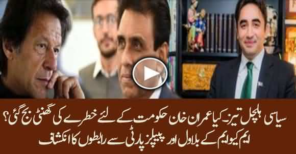 Is Imran Khan Govt In Danger ? MQM Pakistan's Leaders Contacts Bilawal Bhutto