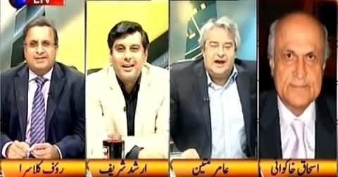 Ishaq Khakwani Got Angry On The Questions of Arshad Sharif, Amir Mateen & Rauf Klasra
