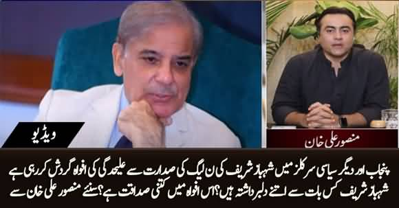 Disheartened Shahbaz Sharif, Rumors about His Resignation As President of PMLN - Details By Mansoor Ali Khan