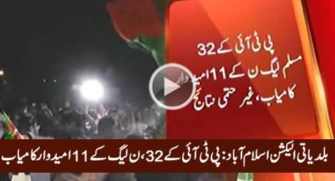 Islamabad LB Polls Update: PTI Leading With 32 Seats, PMLN 11 Seats