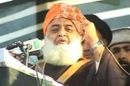 Islamabad Mein PTI Ka Dharna Nahi Mujra Ho Raha Hai - Maulana Fazal ur Rehman