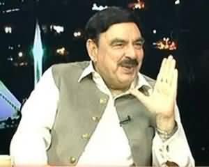 Islamabad Tonight - 13th August 2013 (Sheikh Rasheed Ahmad Exclusive Interview on Pak India Clash)