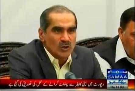 It is a Competition Between Lies and Democracy, Javed Hashmi will Win - Khawaja Saad Rafique