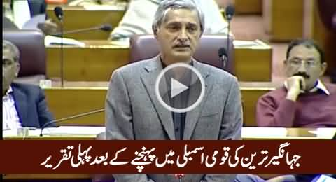 Jahangir Tareen's First Speech in Nation Assembly After Taking Oath As MNA