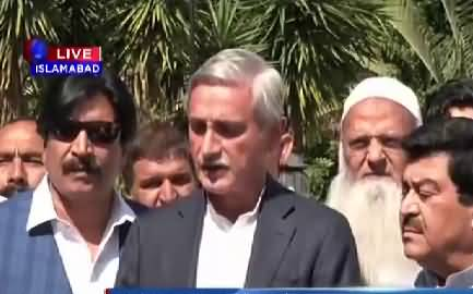 Jahangir Tareen´s Short media talk regarding PMLN leaders joining PTI