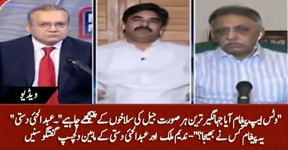 Jahangir Tareen Should Be Behind The Bars At Every Cost, A WhatsApp Message Delivered - Abdul Haye Dasti Claims