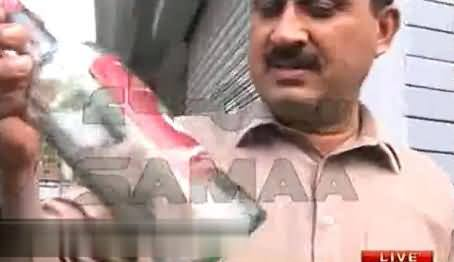 Jamshaid Dasti Shows Empty Bottles of Wines in Front of Media in Parliament Lodges