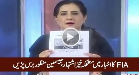 Jasmeen Manzoor Blasts on FIA Over Their Ad in Newspaper Asking For Help