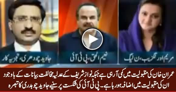 Javed Chaudhry Comments on PTI's Defeat in NA-154 By-Election