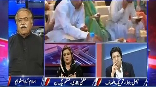 Javed Chaudhry Makes Uzma Bukhari Speechless By Telling PMLN's History of Defaming Political Opponents