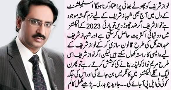 Javed Chaudhry Tells Nawaz Sharif In His Latest Column That How He Can Get Back To Power