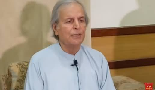 Javed Hashmi's Aggressive Press Conference After Govt's Crackdown On His Property