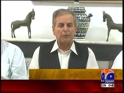 Javed Hashmi Takes Back His Statement About Saying Nawaz Sharif His Leader