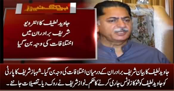 Javed Latif's Statement Create Differences Between Nawaz Sharif And Shahbaz Sharif