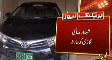 Karachi PPPs Shehla Raza suffers injuries in car accident