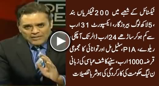 Kashif Abbasi Telling Shocking Details of PMLN Govt's Three Years Performance