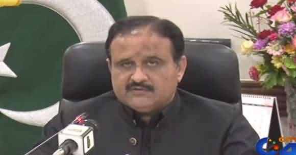 Keep Yourselves And Family Members Inside Home - CM Punjab Usman Buzdar Media Talk