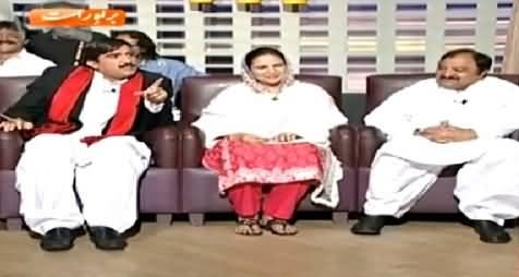 Khabarnaak (Ata Manika, Nosheen Hamid PTI & Sheikh Rasheed Dummy) - 23rd April 2015