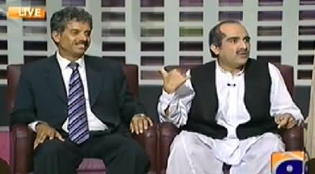 Khabarnaak REPEAT (Khawaja Saad Rafique Dummy with Geo Reporter) - 11th September 2014