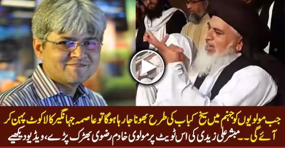 Khadim Rizvi Blasts on Mubashir Zaidi on His Tweet About Molvis And Asma Jahangir