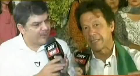 Kharra Sach (Imran Khan Special Interview From Azadi Chowk) – 6th October 2014