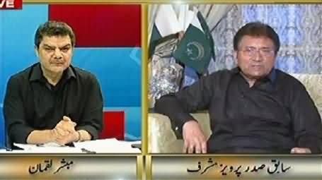 Kharra Sach FULL (Pervez Musharraf Special Interview with Mubashir Luqman) – 26th August 2014