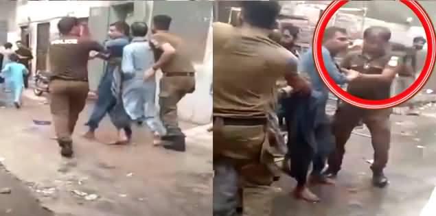 Khatoon Ke Samne Sharmnaak Harkaat Karne Wala Police Wala Zamanat Per Riha
